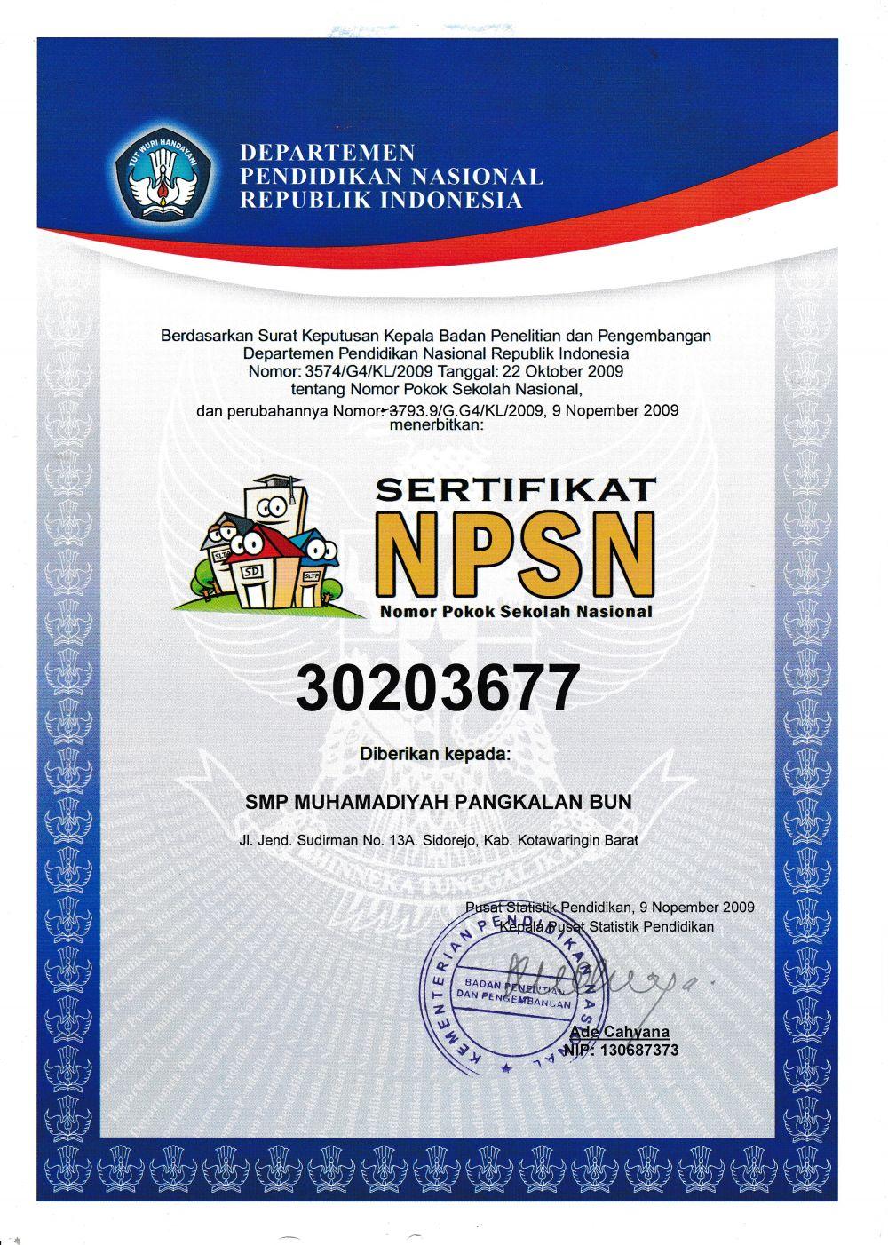 Npsn Smp Pdm Kabupaten Kotawaringin Barat Muhammadiyah